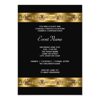 Black and Gold Corporate Party Event Card