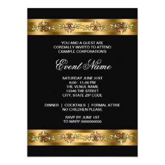 Black and Gold Corporate Party Event Template Card