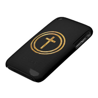 Black and Gold Cross iPhone 3 Cover