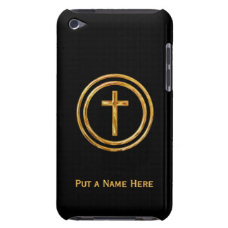 Black and Gold Cross Name Template Case-Mate iPod Touch Case