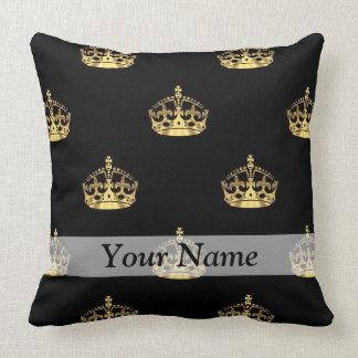 Gold Crown Throw Pillow : Royal Gold Pillows - Decorative & Throw Pillows Zazzle