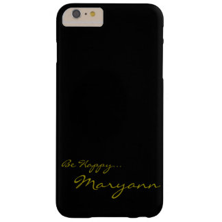 Black and Gold Custom iPhone 6 Cov Barely There iPhone 6 Plus Case