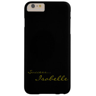 Black and Gold Custom Monogram iPhone 6 Cov Barely There iPhone 6 Plus Case