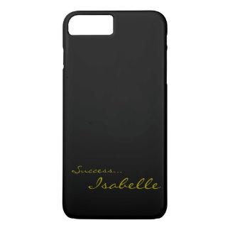Black and Gold Custom Monogram iPhone 7 Cov iPhone 8 Plus/7 Plus Case