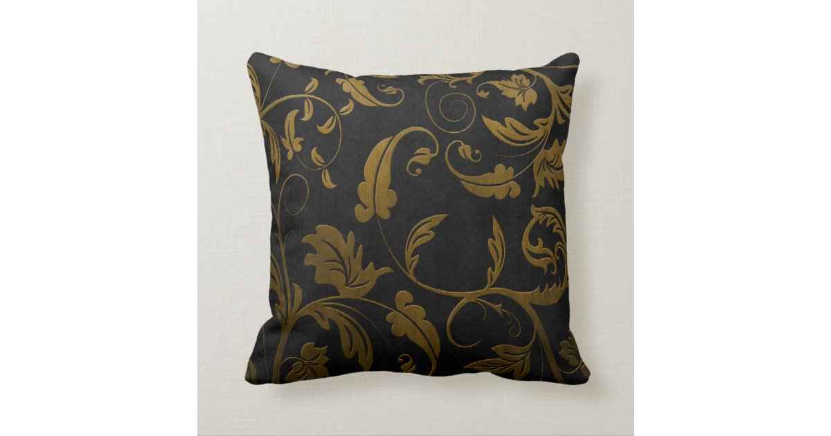 black and gold damask 50th wedding anniversary throw. Black Bedroom Furniture Sets. Home Design Ideas