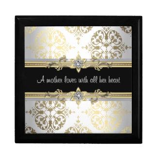Black and Gold Damask Mothers Keepsake Gift Box