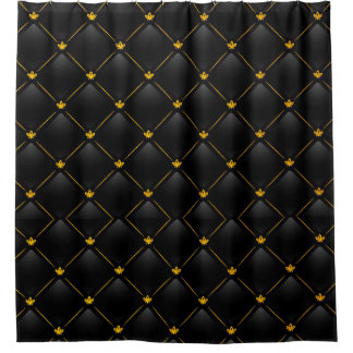 Gold And Black Shower Curtains | Zazzle