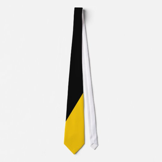 Black and Gold Diagonal-Striped Tie