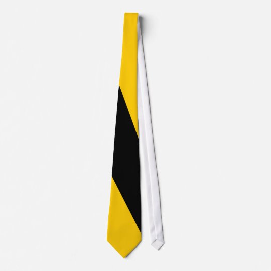 Black and Gold Diagonal Wide-Stripe Tie