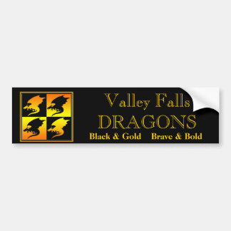 Black and Gold Dragons Bumper Sticker