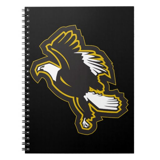 Black and Gold Eagle Notebooks