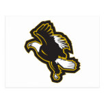 Black and Gold Eagle Post Card