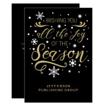 Black and Gold  Elegant Modern Business holiday Card