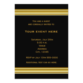 Black and Gold Elegant Party Event Invitation