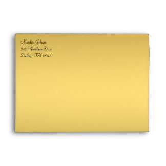 """Black and Gold Envelope for 5""""x7"""" Sizes"""