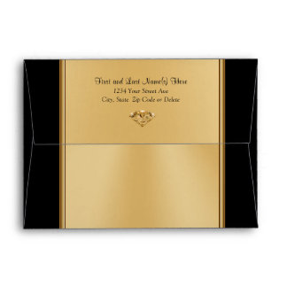 Black and Gold Envelopes for Anniversary, Birthday