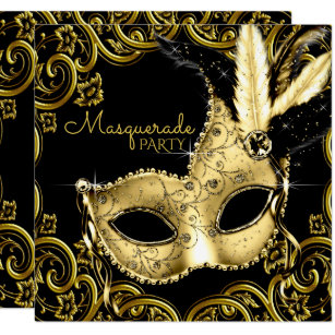 masquerade sweet 16 invitations zazzle