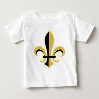 Black and Gold Fleur de lis Baby T-Shirt