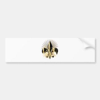 Black and Gold Fleur de Lis Bumper Sticker