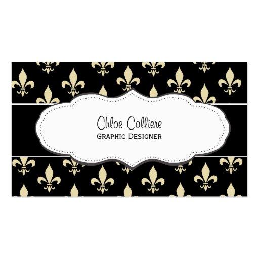 Fleur de lis business card templates page2 bizcardstudio black and gold fleur de lis business cards colourmoves