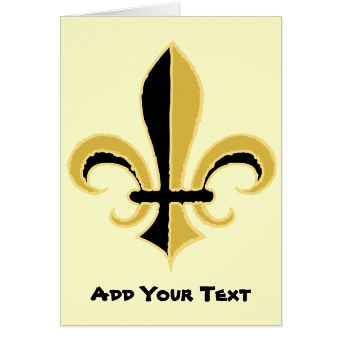 Black and Gold Fleur de lis Card
