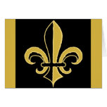 Black and Gold Fleur de lis Cards