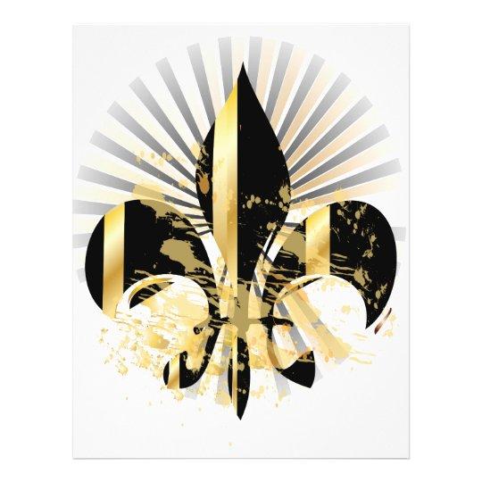 Black and Gold Fleur de Lis Flyer