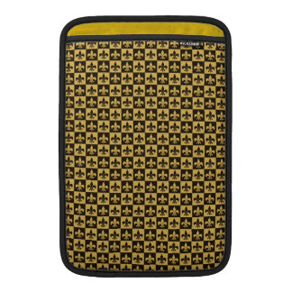 Black and Gold Fleur de lis Sleeves For MacBook Air