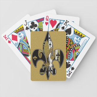 Black and Gold fleur de lis playing cards Bicycle Playing Cards