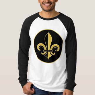 Black and Gold Fleur de lis T-shirts