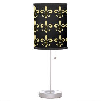 Black and Gold Fleur De Lis Table Lamp