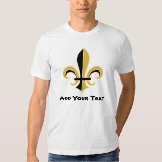 Black and Gold Fleur de lis Tshirt