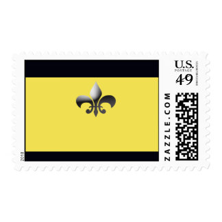 Black and Gold Fleur de Lys Postage