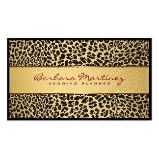 Black And Gold Floral Damasks & Animal Print Business Card Templates