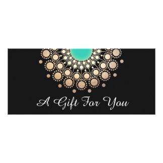 Black and Gold Floral Mandala Gift Certificate Rack Card Design