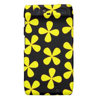 Black and gold flowers motorola droid RAZR covers
