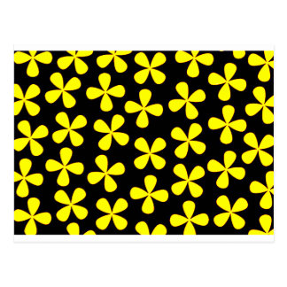 Black and gold flowers postcard