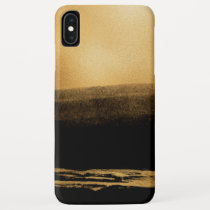 Black and Gold Foil Brush Stroke iPhone XS Max Case