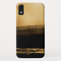 Black and Gold Foil Brush Stroke iPhone XR Case