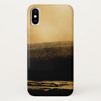 Black and Gold Foil Brush Stroke iPhone XS Case