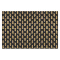 Black and Gold Foil Pattern Tissue Paper