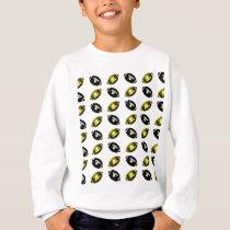 Black and Gold Football Pattern Sweatshirt