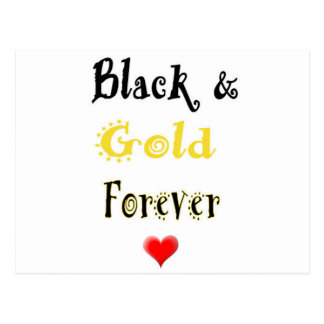 Black and Gold Forever Postcard