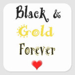 Black and Gold Forever Stickers
