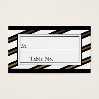 Black and Gold Gay Wedding Place Cards