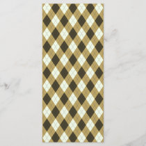 Black And Gold Geometric Stripes Argyle Pattern