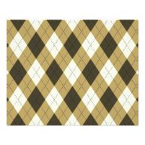 Black And Gold Geometric Stripes Argyle Pattern Flyer