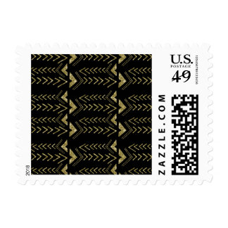 Black and Gold Glam Arrows Postage