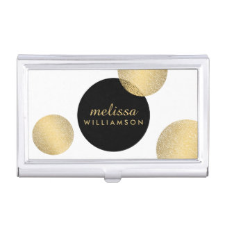 Black and Gold Glamour and Beauty Card Case
