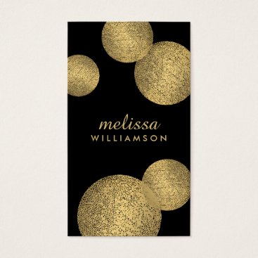 Professional Business Black and Gold Glamour and Beauty II Business Card
